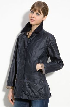 Barbour 'Beadnell' Waxed Cotton Jacket