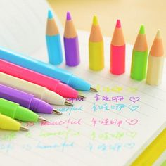 Cheap pen connect, Buy Quality pen office directly from China stationery notepad Suppliers: 3246 style water-based pen mini multicolour unisex pen korea stationery Too Cool For School, School Fun, School Suplies, Diy And Crafts, Paper Crafts, Cute Stationary, Cute Pens, School Accessories, Kawaii Stationery