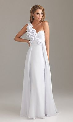 One Shoulder Prom Dress by Night Moves 6480 at PromGirl.com