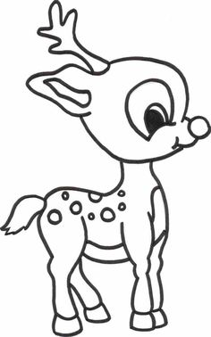 reindeer color sheet | Free Printable Reindeer Coloring Pages For Kids
