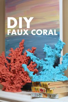 Want to play with your own pretend coral at home? DIY Faux Coral Tutorial using Salt Dough Please note this is for Decoration or craft only not for aquariums Bateau Diy, Beach Crafts, Diy Crafts, Ocean Crafts, Sand Crafts, Stick Crafts, Glue Crafts, Cardboard Crafts, Nature Crafts
