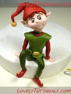 Porcelain In China Product Christmas Elf, Winter Christmas, Christmas Crafts, Antique Christmas, Christmas Topper, Christmas Cake Decorations, Clay Ornaments, Holiday Ornaments, Amazing Food Art