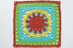 Pattern: Starburst Flower Square by Donna Mason-Svara  (from A Granny a Day)