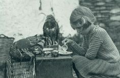 """""""Anne and her family lived alone on an island. She enjoyed having tea time with her friends the spiny lobster and baby hawk.""""     - National Geographic, August 1938"""