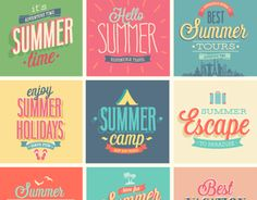 Badge summer travel vector