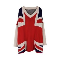 British Sweater The Funky Skull ❤ liked on Polyvore