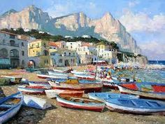 isle of capri art Isle Of Capri, South African Artists, Capri Italy, Romantic Destinations, New Artists, Contemporary Artists, Impressionism, Fine Art America, Fine Art Prints