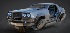 I'm imagining the Huntsman is my hobby build car in a futuristic LA, it was a classic car from the that I've painstakingly converted to use current anti-gravity technology whilst still keeping it's classic looks. Zombie Survival Vehicle, Hover Car, Microcar, Street Racing Cars, Flying Car, Futuristic Art, Car Illustration, Car Posters, Cyberpunk Art
