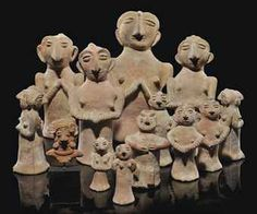 A group of Indus Valley terracotta figures from Harappa, North Pakistan (3rd millenium BC) via Christies.
