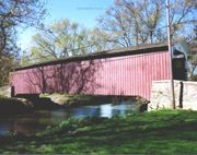 Lime Valley Covered Bridge  Pequea Creek  Willow Street, PA
