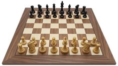 Sjakksett Franz Hals svart Valnøtt 55 mm - Sjakkbutikken Matcha