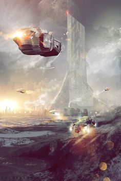 Science Fiction Art, off world colony by col price | CGSociety