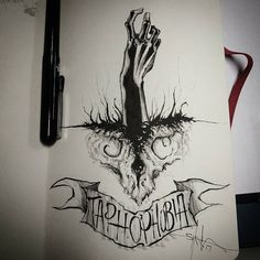 """5,381 Likes, 19 Comments - Shawn Coss (@shawncoss) on Instagram: """"Taphophobia - day 9 of #inktober / #feartober . All month I'm creating art depicting a new phobia.…"""""""