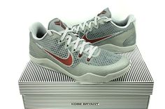 factory price cdf92 0947e Nike Kobe XI Basketball Mens Shoes Grey Red 11 Aces 836183-006 for sale  online   eBay
