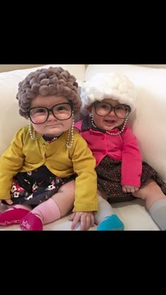 Halloween costume baby toddler old person