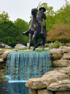 The Buffalo Soldier monument in Fort Leavenworth.