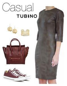 Casual Look Olive by tubino-skirts-dresses on Polyvore featuring mode, Converse, CÉLINE, Kendra Scott and Karen Kane