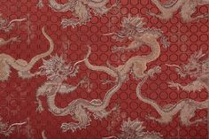 "Meissen makes fabric; Textile ""Royal Dragon"", shade Scarlet Appear, 140 cm"