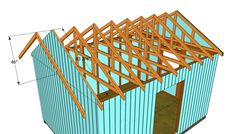 This step by step diy article is about how to build a roof for a shed. Building a roof for a large shed is easy, if you use proper plans and techniques. Pergola Attached To House, Pergola With Roof, Patio Roof, Pergola Plans, Diy Pergola, Curved Pergola, Pergola Shade, Deck Plans, Pergola Kits