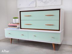 Mid-Century Dresser Makeover by Visual Heart