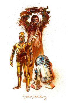 Star Wars -  C3PO, R2D2 & Chewbecca by Mark McHaley