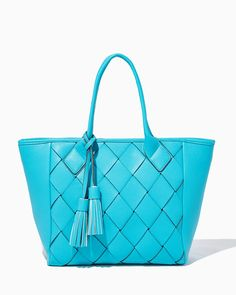 charming charlie | Lakeside Crisscross Woven Tote | UPC: 400000079479 #charmingcharlie