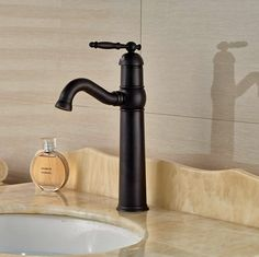 63.36$  Buy here - http://ali11s.worldwells.pw/go.php?t=32670070669 - Bathroom Waterfall Basin Faucet Oil Rubbed Bronze Vanity Sink Tap Single Lever One Hole Mixer Faucet 63.36$