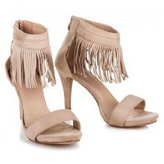 2c771a9ec Dámské sandály TOP OR Meliandra béžové – béžová Dámské sandály na jehlovém  podpatku ocení ženy s