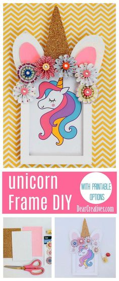 Today we are sharing one of our unicorn crafts with paper, it's for a Unicorn Frame DIY. This decorated unicorn frame is great if you are looking for unicorn crafts that are easy to make for decor. Or unicorn crafts for a kids party or unicorn party. Diy For Girls, Diy For Teens, Diy Crafts For Kids, Easy Crafts, Kids Diy, Craft Ideas, Diy Ideas, Girls Fun, Preschool Crafts