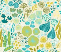 Spoonflower Fabric of the week voting: Fabric8: botanical sketchbook semifinalist round