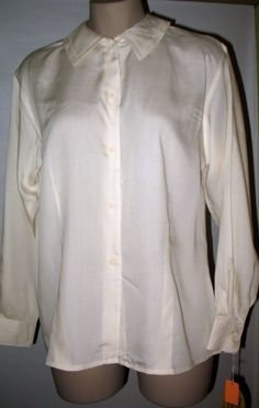 Vintage 70s VILLAGER Classic Preppy Blouse NWT Ivory 8  #TheVillager