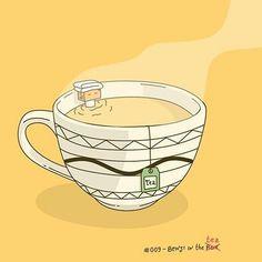 Por  @benjiinthebox  #pelaeldiente  #feliz #comic #caricatura #viñeta #graphicdesign #funny #art #ilustracion #dibujo #humor #sonrisa #creatividad #drawing #diseño #doodle #cartoon #tea