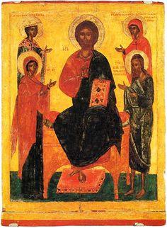 Деисус со святыми Варварой и Параскевой