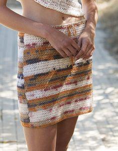 Revista mujer Sport 92 Primavera / Verano   42: Mujer Falda   Crudo-Tejano-Gris-Naranja-Beige