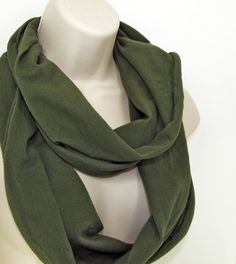 Shoply.com -Infinity Scarf Olive Drab. Only $20.00