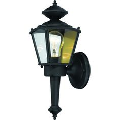 Outdoor Patio or Porch Exterior Light Fixture Black