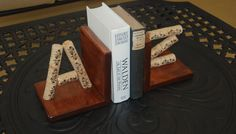 Wine Cork Bookends by GulfCoasters on Etsy, $37.00