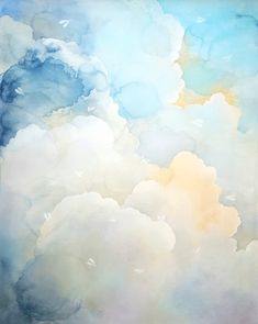Migration Edging Forward, Yuliya Martynova. Abstract. Painting. £1850. This dreamy blue piece would bring tranquility into the nursery or bedroom.