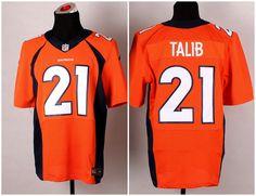 Men's NFL Nike Denver Broncos #21 Aqib Talib Orange Elite Jerseys