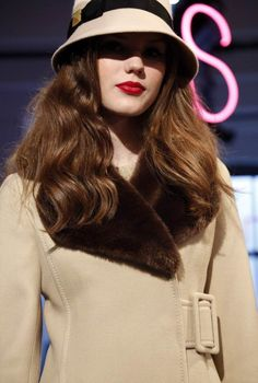 The best of New York Fashion Week- slideshow- Kate Spade  Can't you see this hanging in 1940s screen siren Lauren Bacall's closet? Retro glamour at Kate Spade New York Fall 2013.
