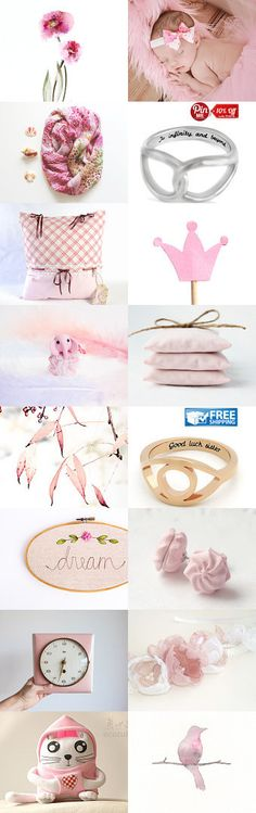 Sea of Pink by Viktoria Deripaska on  from ARTZO Etsy--Pinned with TreasuryPin.com