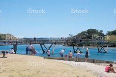 Holidaymakers at Pataua Bridge, Whangarei District, Northland, NZ royalty-free stock photo New Image, Editorial Photography, Celebrity Photos, New Zealand, Bridge, Royalty Free Stock Photos, Pictures, Photos, Bro