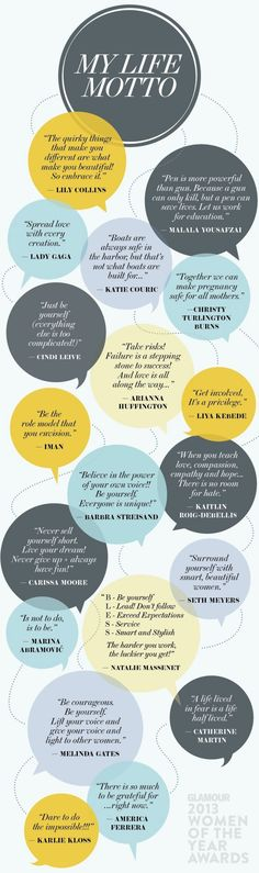 Glamour's Women of the Year Share Their Life Mottos in One Wisdom-Filled Infographic