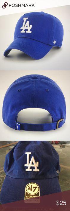 643b5cd340162 47 Cleanup LA Dodgers Baseball Cap NWOT Blue 47 Cleanup LA Dodgers Baseball  Cap NWOT Blue
