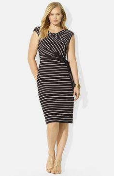 Lauren Ralph Lauren Cowl Neck Dress (Plus Size) available at #Nordstrom