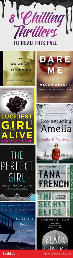 8 suspenseful thriller books to read this fall.