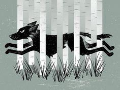 Wolf-dribbble