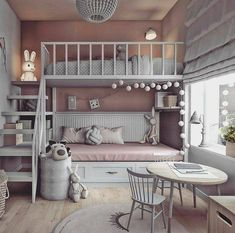 dream rooms for adults ; dream rooms for women ; dream rooms for couples ; dream rooms for adults bedrooms ; dream rooms for adults small spaces Girl Bedroom Designs, Room Ideas Bedroom, Bed Designs, Bedroom Decor For Kids, Kids Bedroom Ideas For Girls, Girl Kids Room, Room For Two Kids, Cool Kids Rooms, Teen Decor