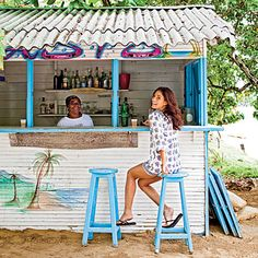 Samana. British Virgin Islands...unique beach bars -  ...there were a lot of them.  :)