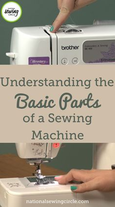 Knowing and understanding the basic parts of a sewing machine can be very helpful in not only learning how to diagnose possible problems but in learning how to sew as well. Jessica Giardino explains all of the basic parts of a sewing machine and what they do. Easy Sewing Projects, Sewing Hacks, Sewing Tutorials, Sewing Circles, Brother Embroidery, Sewing For Beginners, Learn To Sew, Sewing Techniques, Learning